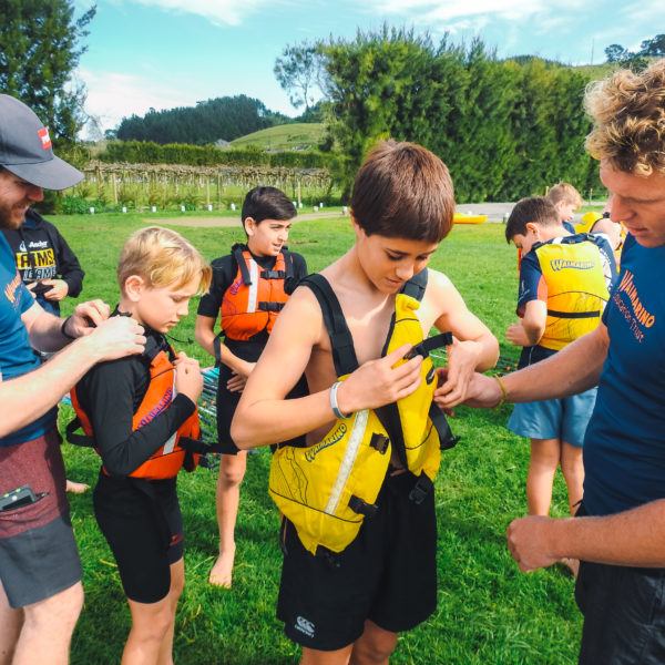 Waimarino Trust | After School Care | Holiday Programme Tauranga | Instructors, Lifejackets